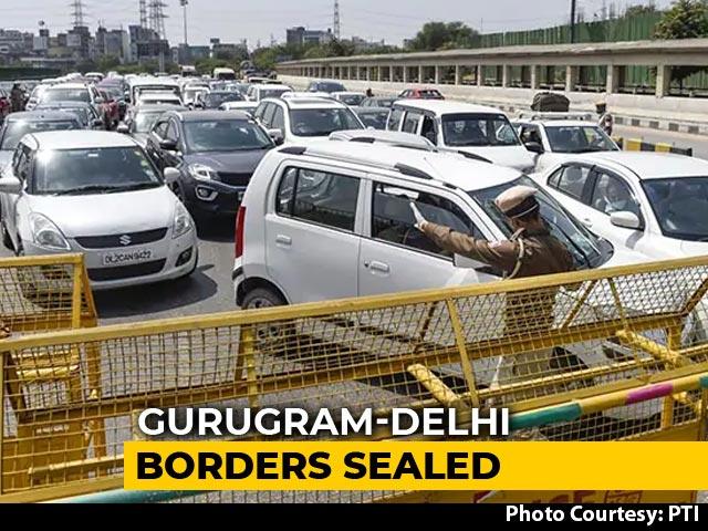 Video: Curbs On Gurgaon, Faridabad Borders As Haryana Blames Delhi On COVID-19