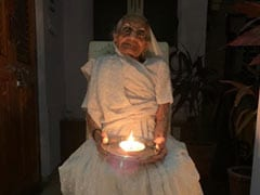 Holding <i>Diya</i> In Hand, PM Modi's Mother Responds To Lights-Out Call