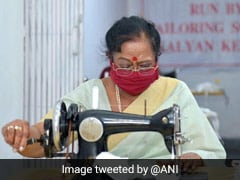 President Ram Nath Kovind's Wife Stitches Masks For Shelter Homes