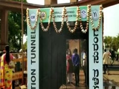 "Tunnel At Agriculture Market In Karnataka To ""Disinfect Bacteria Of Body"""