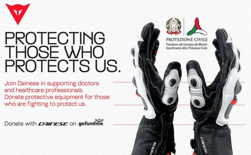 Dainese Sets Up Fundraising Campaign For Coronavirus Efforts
