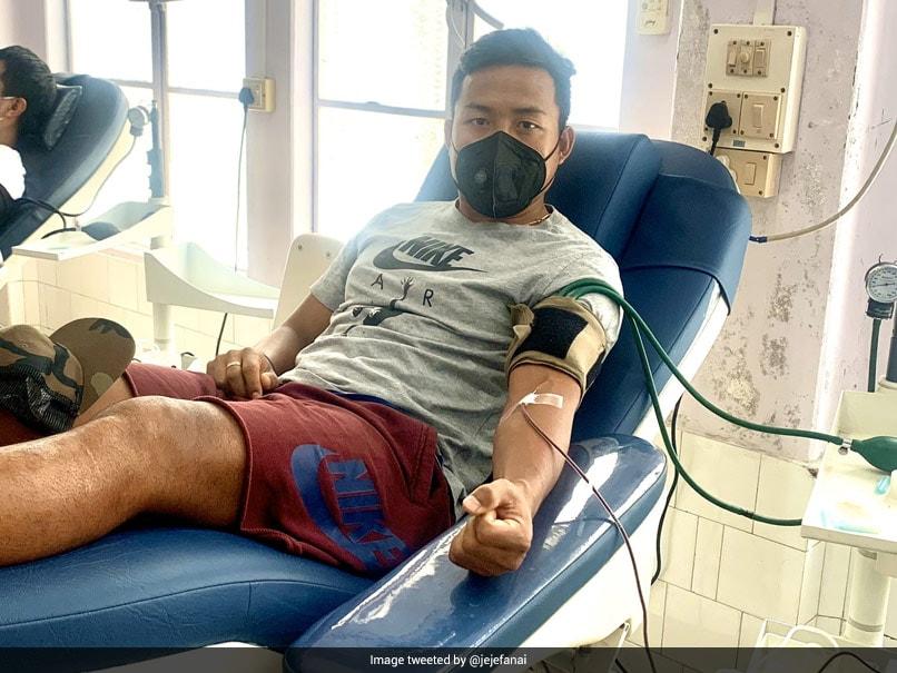 Indian Footballer Jeje Lalpekhlua Donates Blood To Help Fight Coronavirus In Mizoram