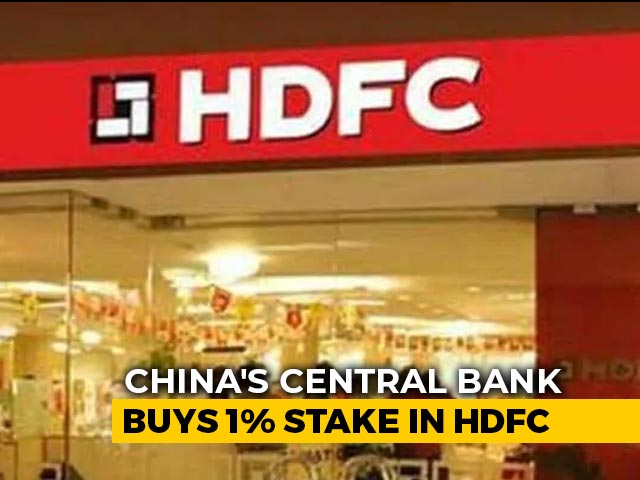 Video : People's Bank Of China Acquires 1% Stake In HDFC