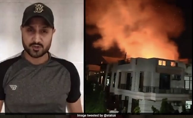 Harbhajan Singh react on viral video of jaipur thatched house catches fire