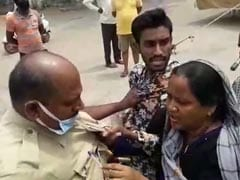 On Camera, Woman Holds Hyderabad Cop By His Collar