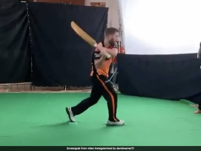 "David Warner Swings Bat Like A Sword, Asks Fans If Hes ""As Good As Ravindra Jadeja"""