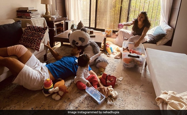 We Got A Glimpse Of Neha Dhupia's Sunlit House In This Pic thumbnail