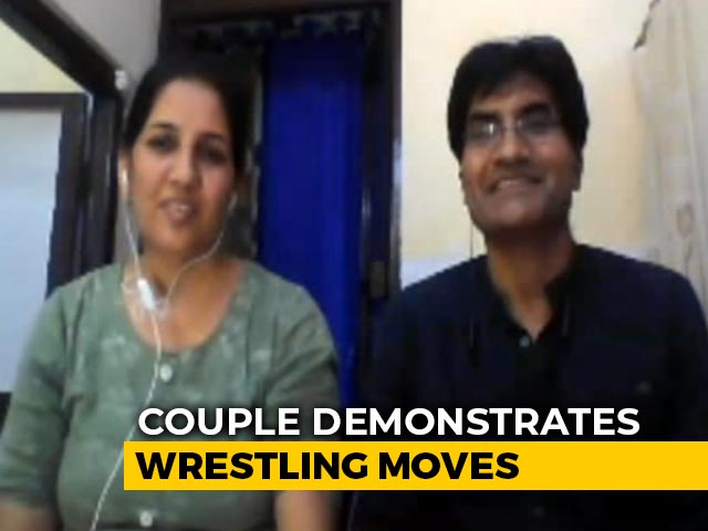Wrestling Coach Trains Others On Internet, Wife Partners On Mat