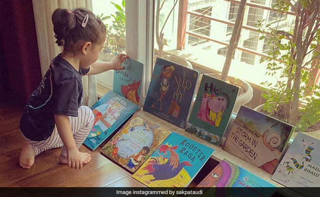 'Story Time' For Soha Ali Khan's Daughter Inaaya. A Scene From Her Personal Library