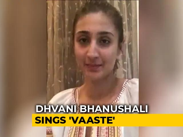 Video: Singer Dhvani Bhanushali Sings A Beautiful Rendition Of Her Song Vaaste
