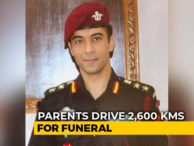 Video : Outrage As Parents Forced To Drive 2,600 km For Army Officer's Funeral