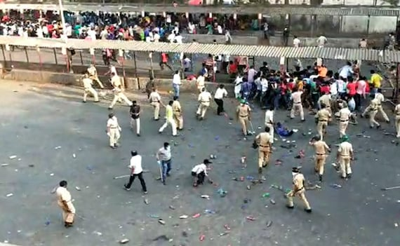 Thousands Defy Lockdown At Bandra Station In Mumbai, Lathicharged By Cops