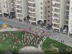 Watch: Noida Residents Blow Conch Shells, Clap For Healthcare Workers