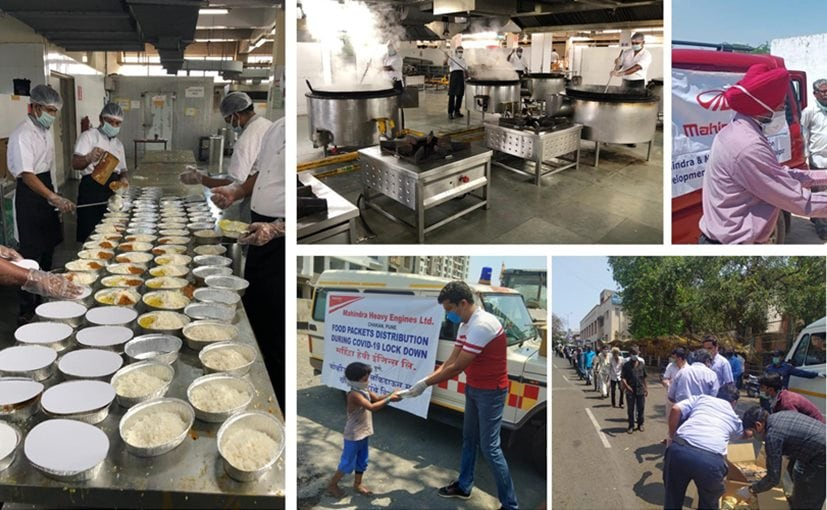 So far, Mahindra has supplied 50,000 meals, and 10,000 ration packets in a week