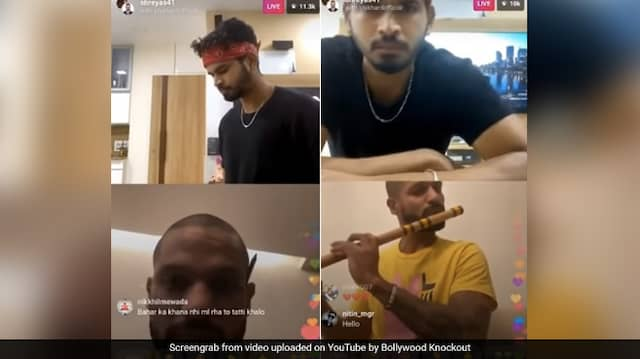 Viral video of Shikhar Dhawan LIVE Instagram Chat With Shreyas Iyer