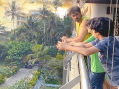 "Hrithik Roshan, Hrehaan And Hridhaan's ""Summer Of Lockdown"" Looks Like This. Pic Courtesy Sussanne Khan"