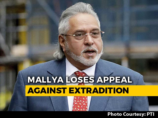 Video : Vijay Mallya Loses High Court Appeal Against Extradition, Over To UK Government