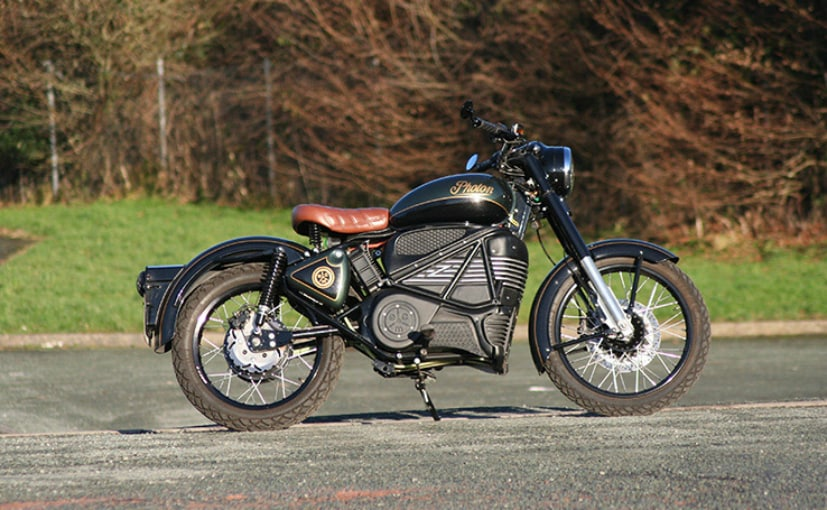 The Royal Enfield Photon is built on a RE Classic 500, but with an electric powerplant