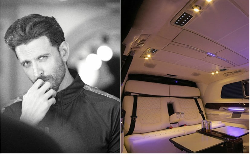 The swanky customised Mercedes-Benz V-Class took three months to be completed for Hrithik Roshan