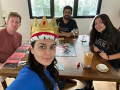 """It's Good To Be Queen"": Preity Zinta Shares Her Victory Moment After Playing Monopoly With Family"