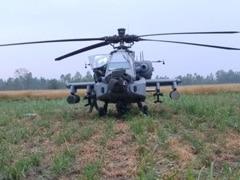 तकनीकी खराबी के कारण IAF के हेलीकॉप्टर अपाचे की इमरजेंसी लैंडिंग, पंजाब में खेत में उतारना पड़ा