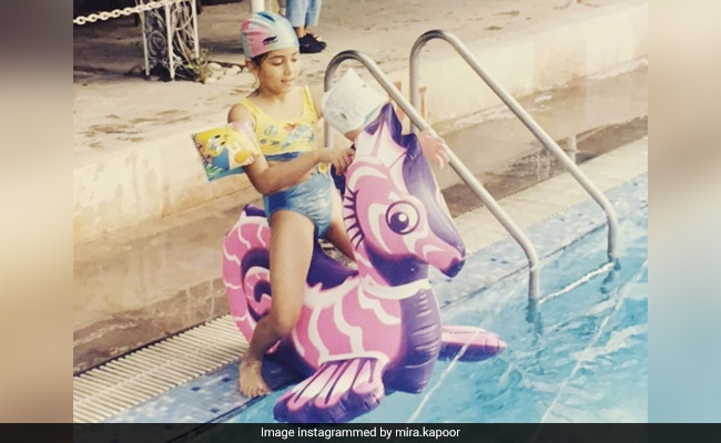 This 'Trendy' Kid Playing In A Pool Is A Star Wife Now. Make A Shaandaar Guess
