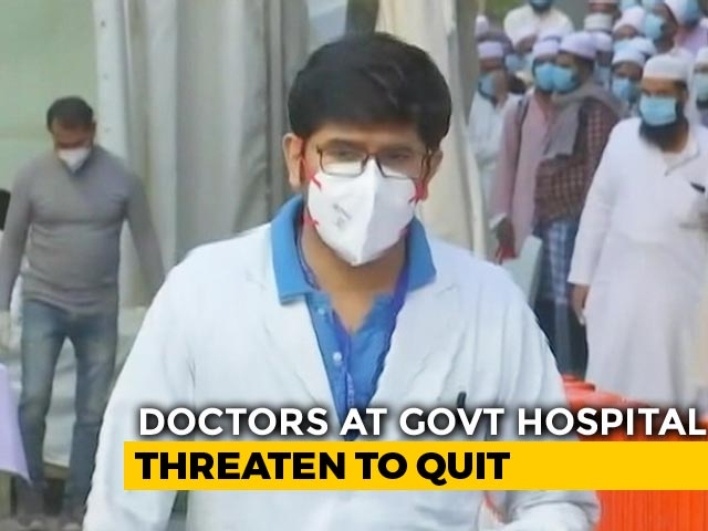 """Video : Delhi Municipal Doctors Protest """"Faulty"""" COVID-19 Protection, Get Warning"""
