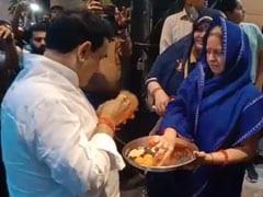 No Masks, Social Distancing In Madhya Pradesh Health Minister's Homecoming