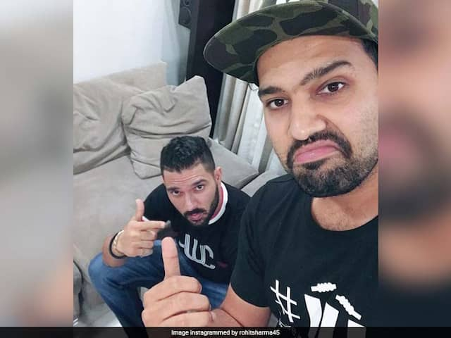 "Rohit Sharma Reveals His ""Cricket Crush"" In Chat With Yuvraj Singh On Instagram"