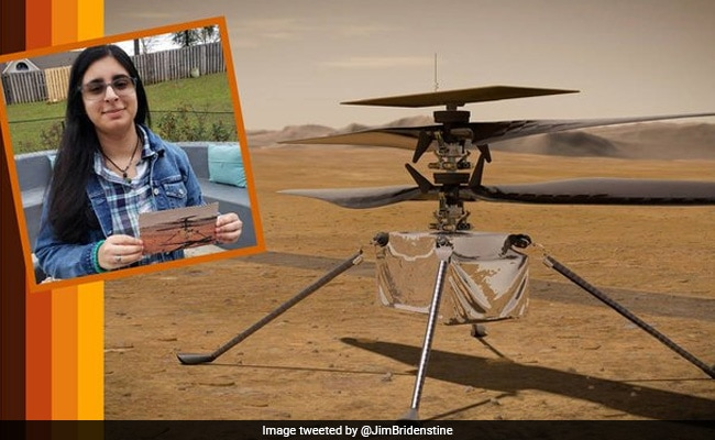 Indian-Origin Girl, 17, Names NASA's First Mars Helicopter