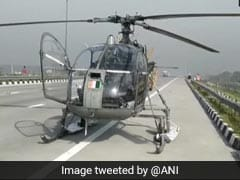 Air Force Chopper Makes Emergency Landing On Expressway In UP After Snag