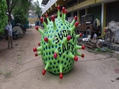 Hyderabad Man Makes Coronavirus-Shaped Car To Spread Awareness