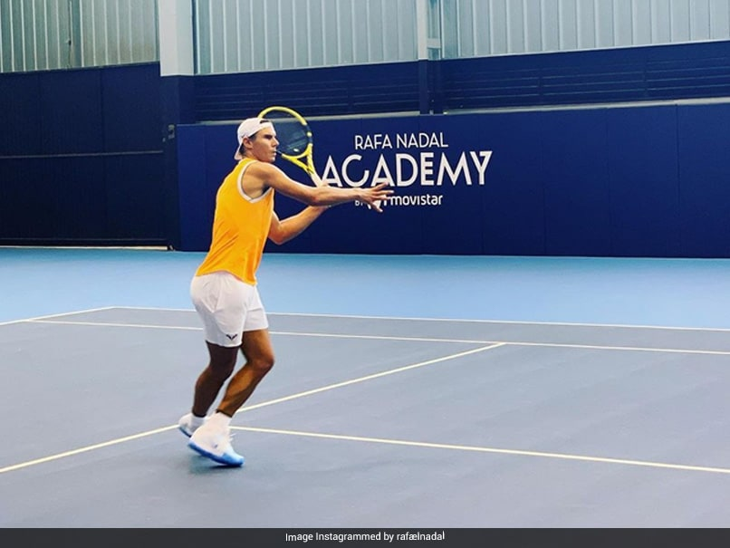 Rafael Nadal returns to training Share video for Fans watch video