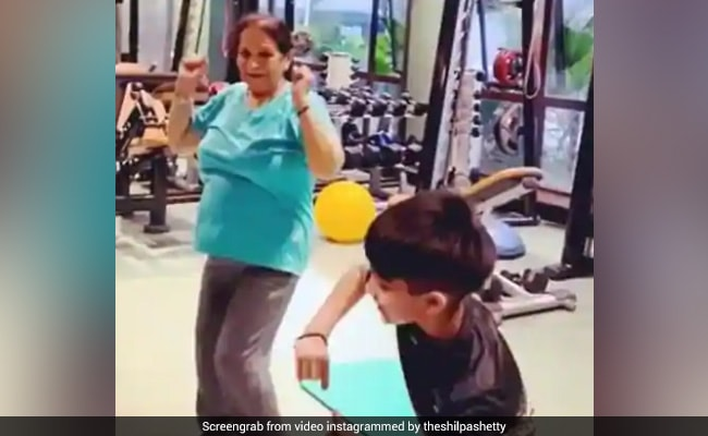 Shilpa Shetty Posts Workout Video Of Mother-In-Law And Son, Says: 'This Is So Inspiring'