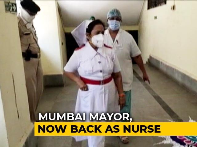 Video : Mumbai Mayor Dons Her Old Nursing Uniform To Motivate Corona Warriors