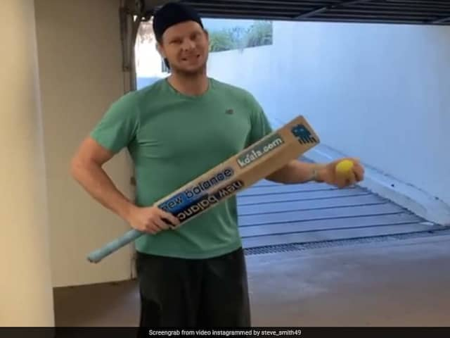 Steve Smith Enhances Hand-Eye Coordination With Isolation Batting. Watch