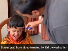 Watch: With Pair Of Scissors, UP Minister Fixes Hair Of Children At Home