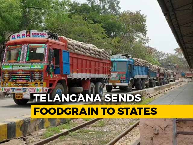 Video : Amid Lockdown, Bumper Harvest In Telangana, FCI Sees Record Food Grain Arrivals