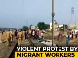 Video : Hundreds Of Migrant Workers Vandalise Property In Gujarat's Surat: Police