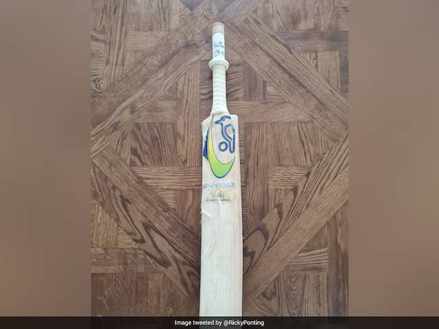 """Ricky Ponting Shares Image Of Bat He Used In """"Proudest"""" Knock Of His Career"""
