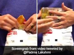 टीवी होस्ट Padma Lakshmi चिप्स के पैकेट को आसानी से सील करने की ट्रिक को लेकर हुई Viral