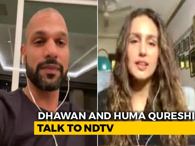 Video: We Are Together In The Fight Against COVID-19: Huma Qureshi And Shikhar Dhawan