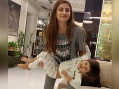 Shweta Tiwari's Daughter Palak Just Needs A Baby For Home Workout - Her 3-Year-Old Brother