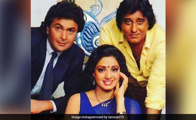 Rishi Kapoor, Sridevi, Vinod Khanna, Yash Chopra. Twitter Will not Neglect Crew Chandni