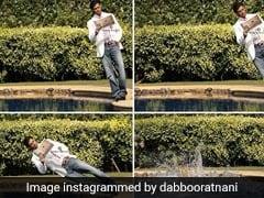 ... और जब इस एक परफेक्ट शॉट के लिए सीधे पूल में कूद गए ऋतिक रोशन, देखें Photos