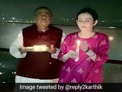 Mukesh Ambani, Wife Neeta Light Lamps After PM Modi's COVID-19 Appeal