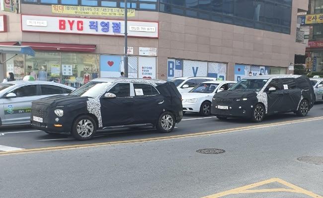 Upcoming seven-seater Hyundai Creta SUV spied again while testing in South Korea