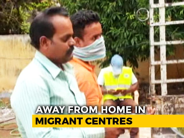 Video: Migrants Stuck In Hyderabad Shelter Home Distributed Food, Sports Items