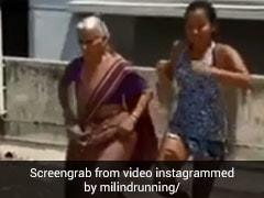 मिलिंद सोमन की मॉम ने 81 साल की उम्र में 28 साल की बहू को दिया लंगड़ी टांग का चैलेंज, देखें Video