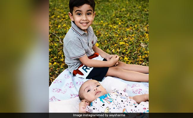 Here's How Ahil And Ayat Are Teaching Dad Aayush Sharma To Be 'Happy'